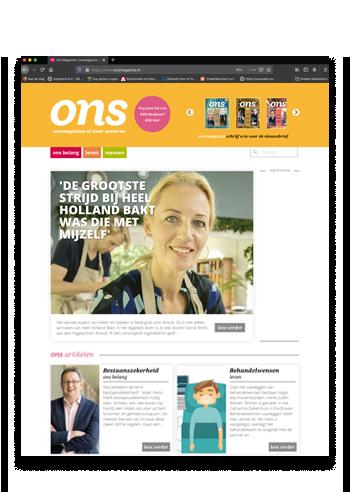 Ons magazine website